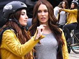 Twice the fun! Megan Fox and her matching body double turn heads on Teenage Mutant Ninja Turtles set