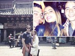 Modern Families in ancient temples: Sofia Vergara tweets snaps from Asian vacation with fiance Nick Loeb and son Manolo