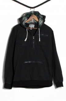 Canvas Pullover Black