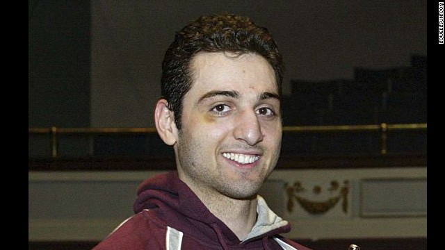Police say the dead suspect, Tamerlan Tsarnaev, is the man the FBI identified as Suspect 1. He was killed during the shootout with police in Watertown, Massachusetts, early April 19. He is pictured here at the 2010 New England Golden Gloves.