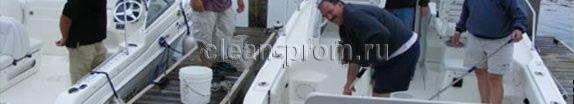 мойка палубы яхты