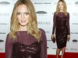 She won't be single for long! Bachelorette Heather Graham, 43, slinks into a sexy sequin dress to celebrate magazine cover