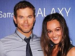 Split: Kellan Lutz and model Sharni Vinson, pictured in February, are rumoured to have split after 18 months of dating