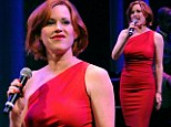 All that jazz! Molly Ringwald sizzles in a curvy red dress as she belts out classic tunes at Las Vegas jazz review