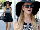 Spring fashion: Paris Hilton wore a monochrome ensemble on Friday while out in West Hollywood