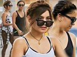 Vanessa Hudgens and sister Stella leave Windsor Pilates after a workout session, Vanessa and Stella matched new braided hairdos