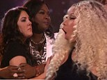 'Oh my god!' Nicki Minaj is in shock as Kree Harrison edges out Angie Miller to join Candice Glover in American Idol final