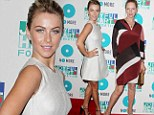 Battle of the blondes: Julianne Hough sported a 60s inspired dress as did Uma Thurman for the annual Joyful Hearts Gala in New York, on Thursday