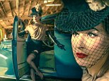 Seller does not come with vehicle: Dita Von Teese puts 'one of her favourite' vintage cars up for auction on Ebay, using a jaw-dropping photo shoot to fuel the bidding war