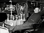 What a haul: Bob Paisley led Liverpool to three European Cup triumphs, in 1977, 78 and 81