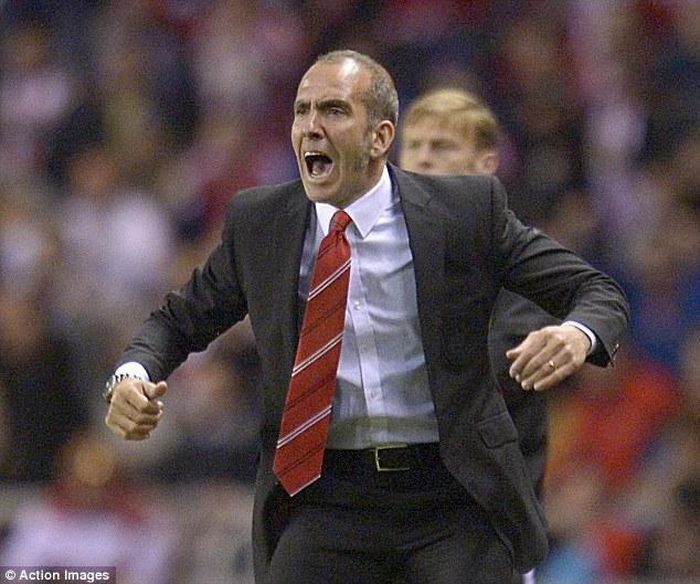 Pride and passion: Paolo Di Canio reacts as O'Shea scores