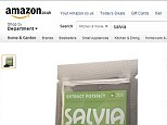 Salvia sold on Amazon