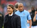 Time's up: Roberto Mancini's spell as Manchester City manager will be ended this week