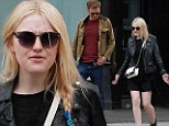 Black ensemble: Dakota Fanning stepped out for coffee on Saturday in an all-black outfit
