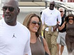 Gentle giant: Micheal Jordan and his new bride on a luxury honeymoon in Greece