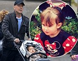 Bruce Willis takes his little girl Mabel for a walk while eldest daughter Rumer tweets a picture from when SHE was little