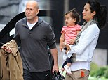A family affair! Bruce Willis and wife Emma Hemming treat their adorable daughter Mabel to Manhattan outing
