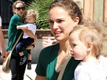 Barefaced: Natalie Portman went make-up free for an outing with her son Aleph in West Hollywood, California on Friday