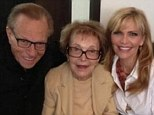 Nancy Reagan power lunches in Beverly Hills with Larry King and his wife Shawn