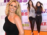 Starry night: Britney Spears hosted KIIS FM's Wango Tango music fest in Los Angeles with Kendall and Kylie Jenner in attendance sporting rocker gear