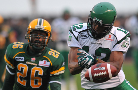Import wide receiver Adarius Bowman was part of a three-way trade between the Roughriders, Blue Bombers and Tiger-Cats