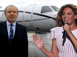 Nice ride! Beyonce hires Lord Sugar's private jet to transport her on her Mrs Carter tour