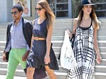 Fashion highs and lows: Jessica Alba goes from a stylish cover up to a leg flashing mini dress all in one day