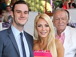 Happy Mother's Day! Hugh Hefner's son Cooper, 22, cosies up to stepmom Crystal Harris, 27, as he celebrates Playboy's Playmate of the Year
