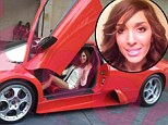 Cashed up and cashing in: Farrah Abraham smiles as she rides out her turbulent times in a brand new $400 thousand Lamborghini