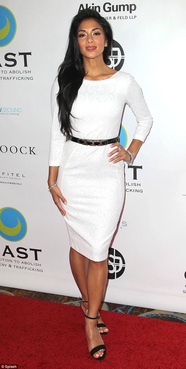 Toned: Miss Scherzinger is known for her trim physique