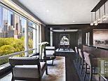Modern: Gordon calls the big, steel-topped built-in bar 'the sushi bar'