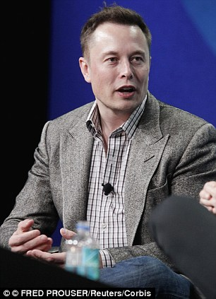 Out: Tesla head Elon Musk, right, announced his decision yesterday