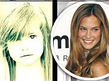 Model from birth: Victoria's Secret model Bar Refaeli turns her childhood photo into an adorable piece of pop art