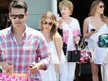 LeAnn Rimes and Eddie Cibrian treat their mothers to lunch in Malibu... while stepsons spend their day with Eddie's ex Brandi Glanville