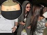 Tat's dedication! Selena Gomez admires a super fan's tattoo of her name