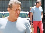 Anything but prehistoric! Fashion forward Jeff Goldblum, 60, mixes his colour palate as he stomps around in red pants and yellow socks on a solo errand run