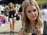 Flaunting it! Spring Breakers actress Ashley Benson showed off her skin at Bottlerock festival on Saturday
