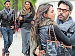 Mystery woman: Jeremy Piven appeared to be on a date with an unidentified brunette in London, on Sunday