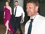 Back together? Sean Bean was spotted leaving the Baftas with ex wife Georgina Sutcliffe