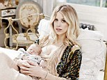Welcome: Peaches Geldof shows off son Phaedra for the first time as she speaks about his birth