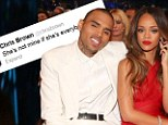 Jealous Chris Brown and Rihanna rage at each in toxic Twitter exchange as they accuse each other of playing the field