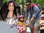 He's not the talk show host: Bethenny Frankel's estranged husband Jason Hoppy refuses to publicly diss her as he takes their smiling daughter Bryn for a bicycle ride