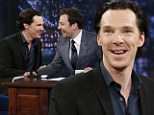 Far from a villain! Benedict Cumberbatch charms as he stops by Late Night With Jimmy Fallon to promote Star Trek