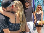 Warming her body! Teresa Palmer cannot resist smooching her beau during outing in Los Feliz