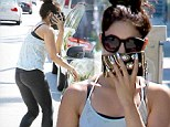 So toned! Vanessa Hudgens showed off her sculpted physique as she left Pilates class in Los Angeles, California on Monday