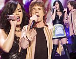 Katy Perry performs onstage with Mick Jagger during The Rolling Stones tour