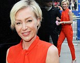 Portia de Rossi visits Good Morning America in Times Square