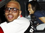 Love triangle: Chris Brown partied at the same club as ex Karrueche Tran amidst rumours that the two have rekindled their romance just a week after his break with Rihanna, pictured in West Hollywood, Sunday night