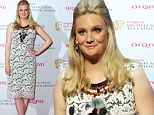 Romola Garai shows off slim post-baby figure in white lace as she has TV Bafta audience in stitches with post-birth quip