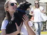 Back in action! After being spotted in leggings since the birth of her daughter, Kristen Bell was seen wearing skinny jeans as she took her dog Shakey to the vet in Hollywood, California on Monday